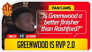 SAEED! GREENWOOD LIKE VAN PERSIE! Manchester United 4-0 AZ Alkmaar Fan Cams