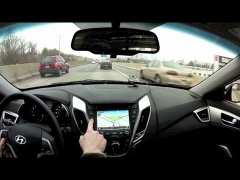 Video Review Test Drive of the 2012 Hyundai Veloster s Infotainment System