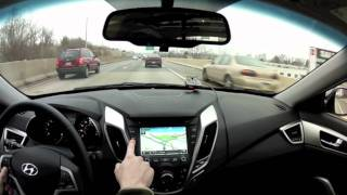 Video Review & Test Drive of the 2012 Hyundai Veloster's Infotainment System(Autosavant.com's Kevin Gordon give his impressions of the 2012 Hyundai Veloster's infotainment system from the road., 2012-02-23T23:50:37.000Z)
