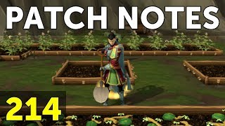 RuneScape Patch Notes #214 - 9th April 2018
