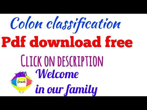 Cc :colon classification book in pdf..... For download book click on description