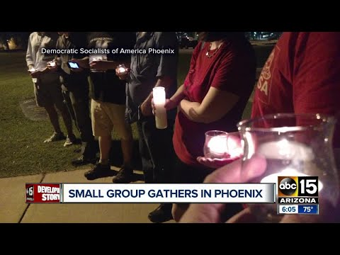 Democratic Socialists of America Phoenix gather after Charlottesville violence