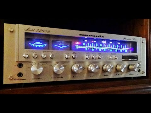 Vintage Marantz Stereo Receiver Review - See The New Lamps!!