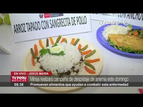 Ministerio de Salud presenta alimentos que combaten y previenen la anemia
