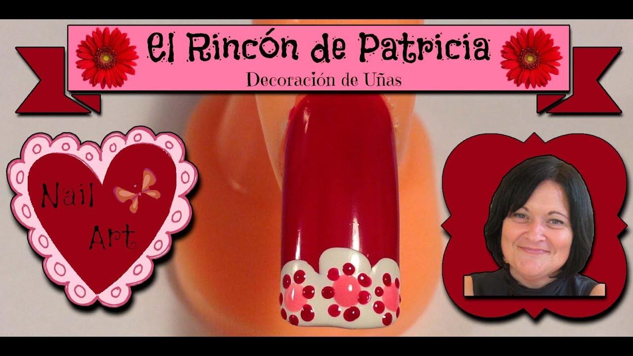 Decoracion de u as flores rojas francesa faciles y - Decoracion de unas sencillas y bonitas ...