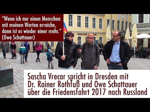 Friedensfahrt Berlin - Moskau. Sascha Vrecar im Gespräch mit Owe Schattauer und Dr. Rainer Rothfuß
