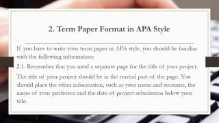 Term Paper Format(Watch this video, which will save your time and nerves and presents in one video on how to format your Term Paper. Moreover, find your time to read an article ..., 2015-12-22T22:56:58.000Z)