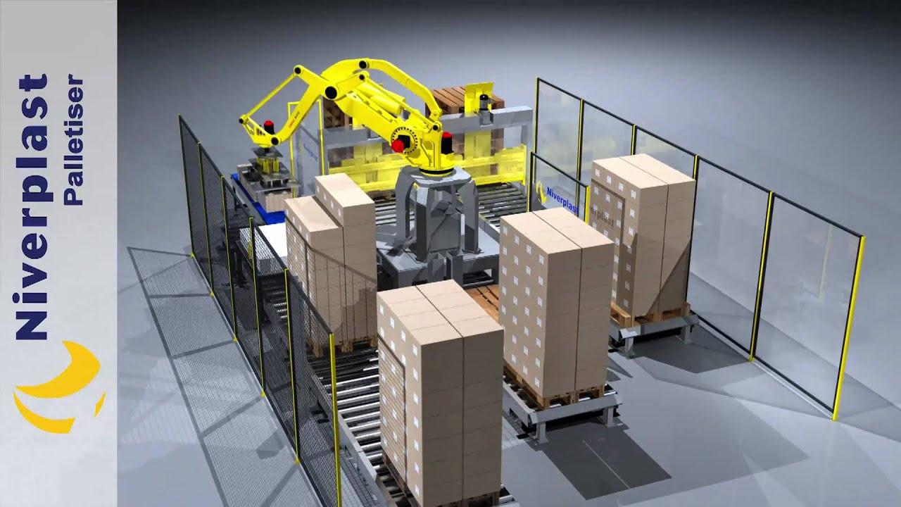 3d Cad Animation Palletiser Robot Animatie Solidworks