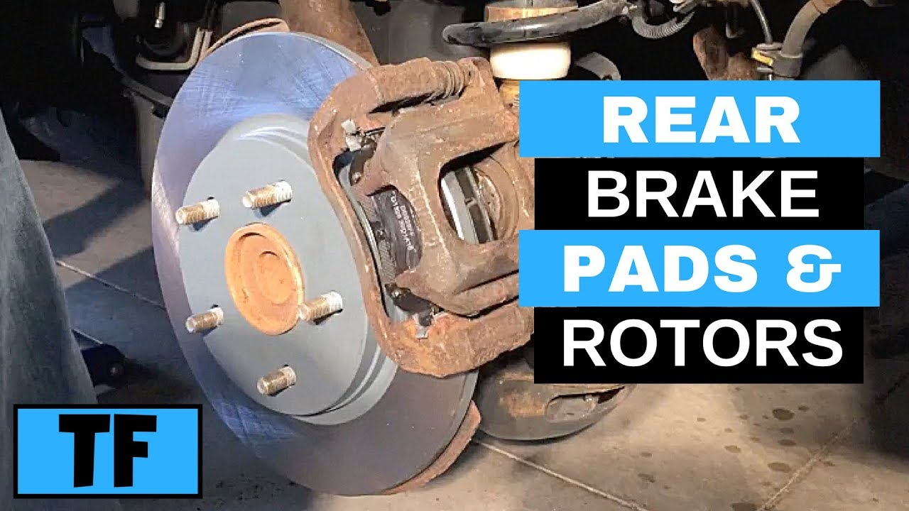 step by step how to replace rear brakes 2012 dodge grand caravan pads rotor replacement [ 1280 x 720 Pixel ]