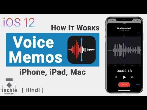 iOS 12 - Voice Memos App - How It Works | Techie Prashant | HINDI