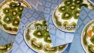 Банановый торт из пряников (без выпекания)