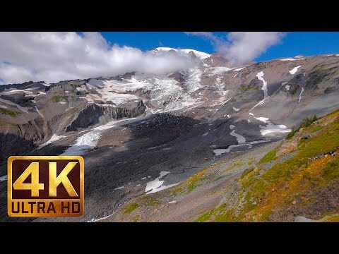 Mount Rainier Waterfalls in 4K, Cassidy Falls - Nature Relaxation Video - 3 hours