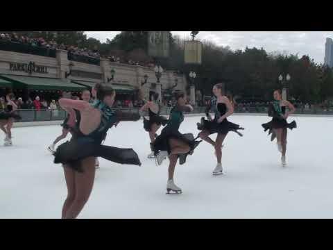 Starlight Synchronized Jr. Skating Team, Millennium Park 11/17