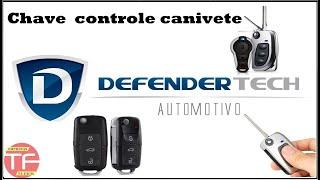 Controle canivete para alarme Defender Tech