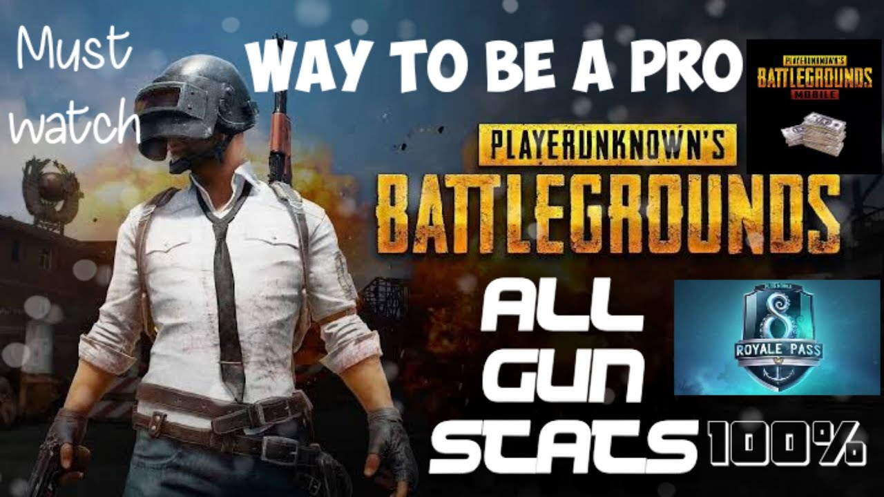 ALL WEAPON STATS OF PUBG MOBILE, UPDATED 2019 (Bizon, Scorpion