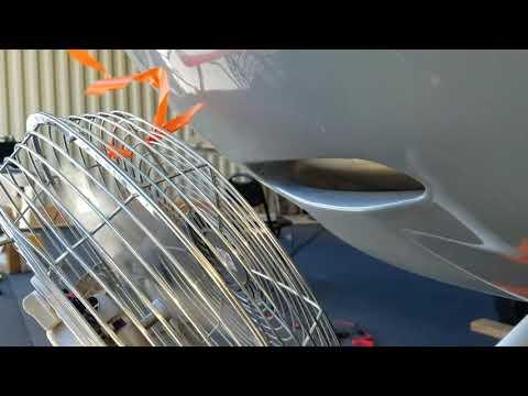 Bud Fraze Oil cooler duct flow test. High tech