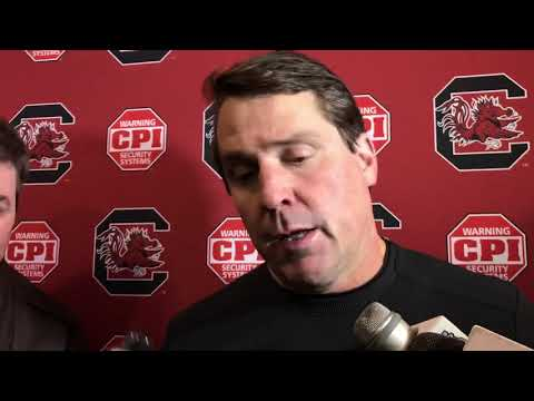 Will Muschamp meets with reporters after loss to Clemson
