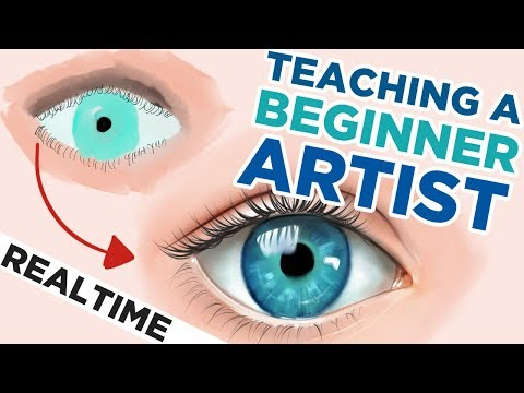 HOW TO DRAW an EYE | 30 minute REALTIME digital art tutorial