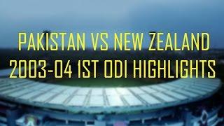 Pakistan Vs New Zealand 2003-2004 1st ODI Highlights - HQ