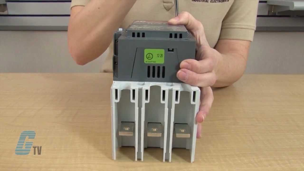 how to change contacts on the abb a-line contactors - a and af 145 to af  175 series - youtube