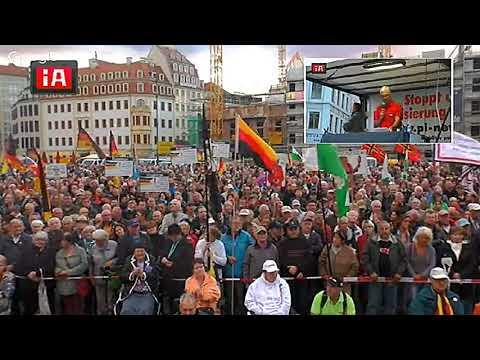 PEGIDA Dresden trifft AfD an der Frauenkirche  18. 09. 2017