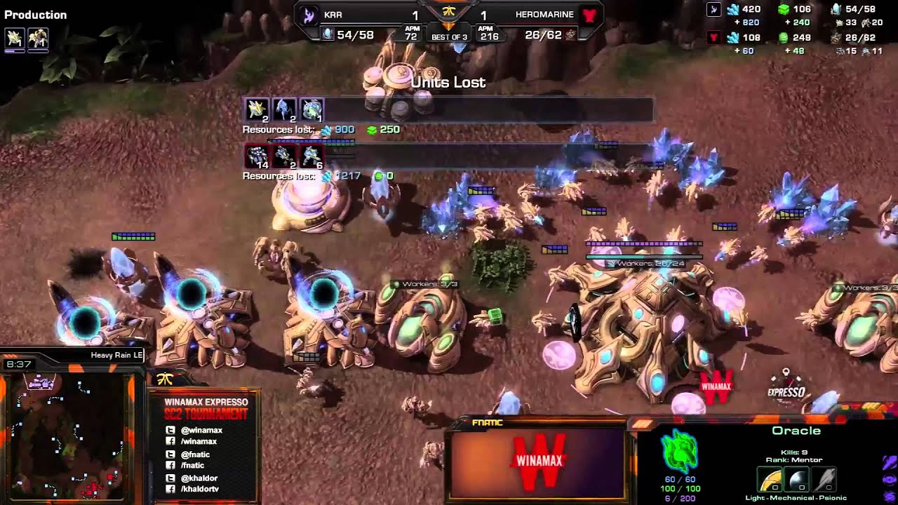 HeroMarine vs. Krr - Game 3 - Winamax Finals - StarCraft 2