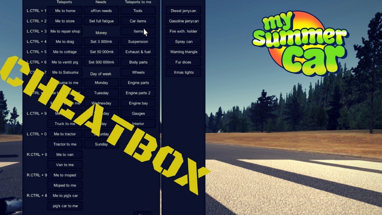 Cheatbox - My Summer Car #30 (Mod)
