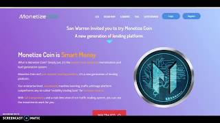MONETIZE COIN ICO STARTS @$0.35 DON'T MISS OUT