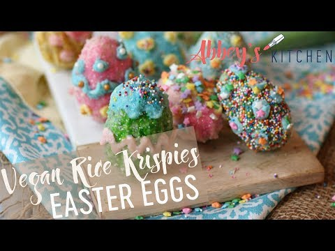 VEGAN Gluten Free Rice Krispies EASTER Eggs