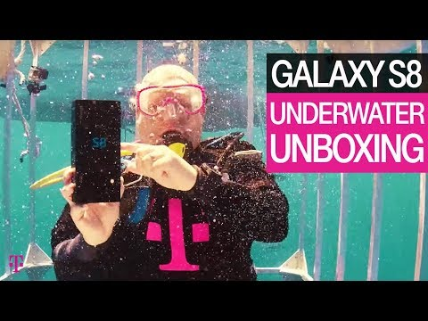 T-Mobile   Underwater Unboxing of the new Samsung Galaxy S8   Product Preview