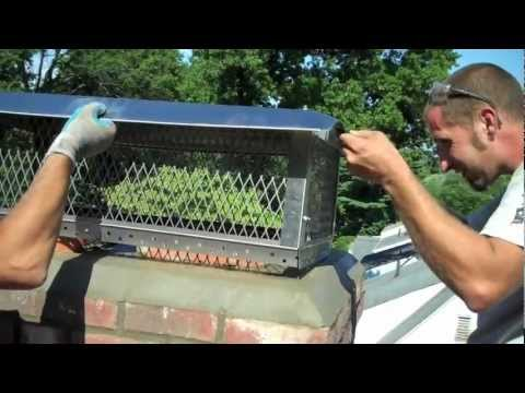 Install Chimney Cap In West Hartford Ct Youtube