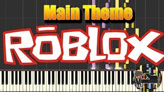 🎵 Roblox Main Theme song [Piano Tutorial] (Synthesia) HD Cover