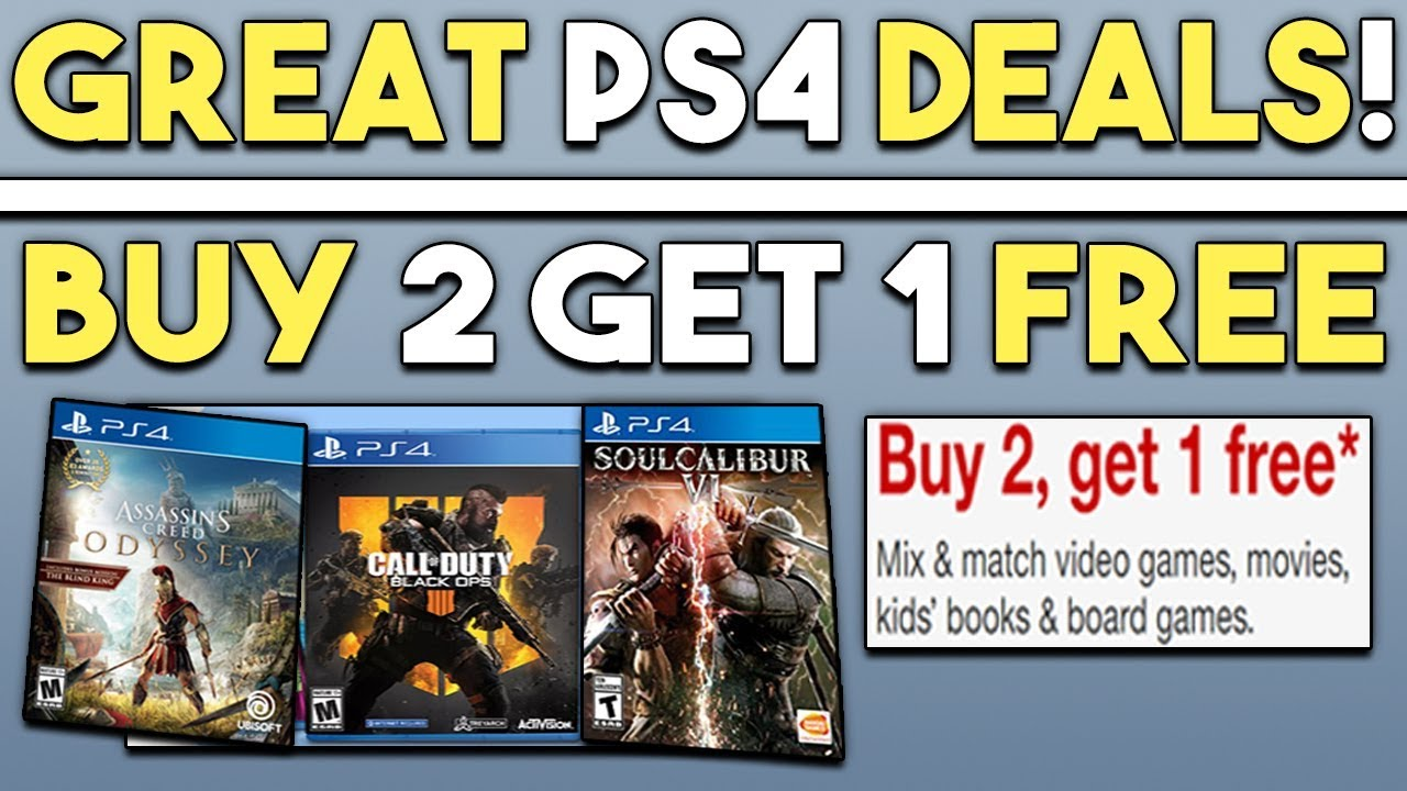 GREAT PS4 Game Deals! Buy 2 Get 1 FREE PS4 Deals + More!