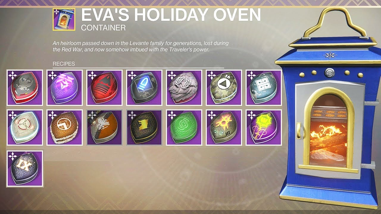 Destiny 2 ALL Dawning Recipes , Masterworked Holiday Oven