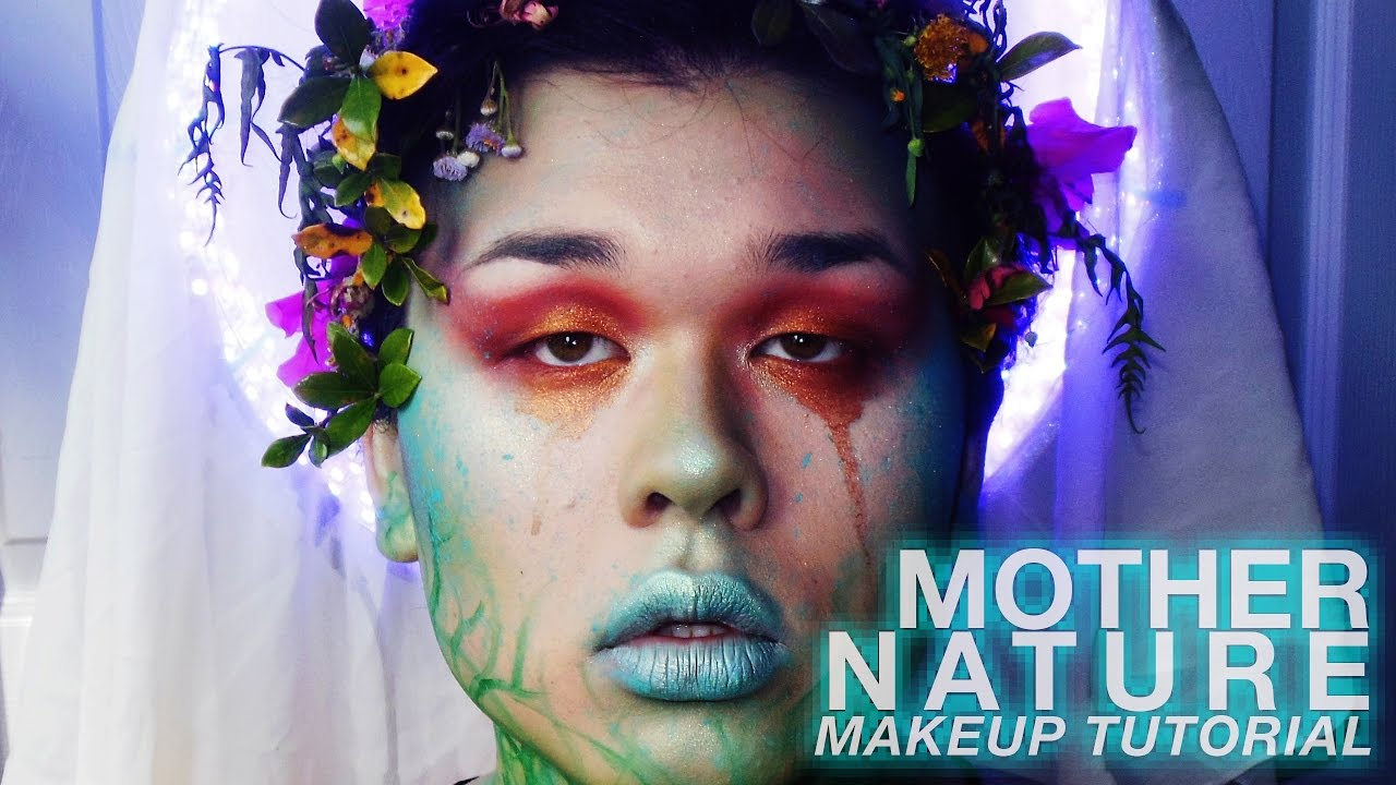 Earth Day Fairy Mother Nature Makeup Tutorial Youtube