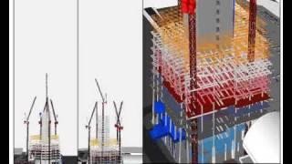 Synchro Professional 4D Construction Simulation AVI: The Shard, London UK