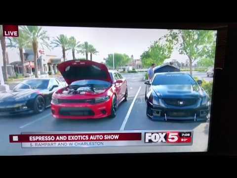 Espresso & Exotic Las Vegas, NV 7/9/2017 LiVE Fox 5 News Clip