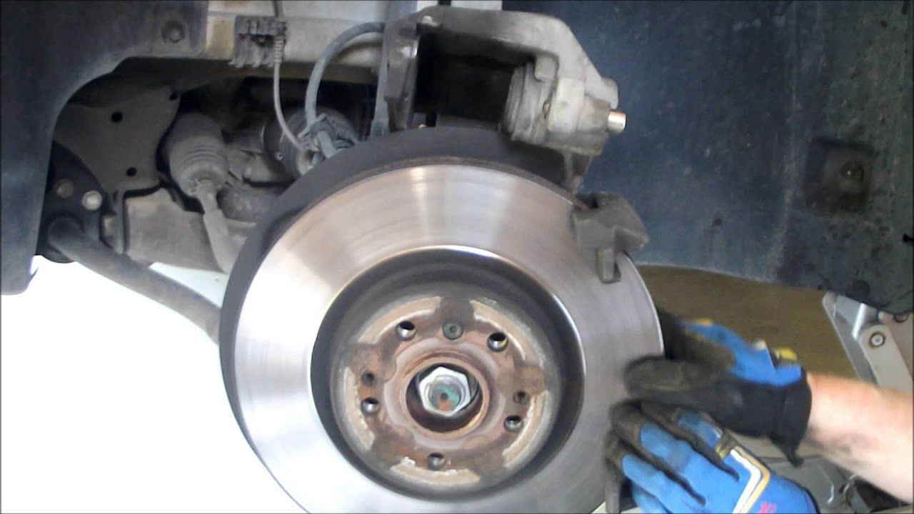 How to mercedes benz brake job doovi for Mercedes benz rotors replacement