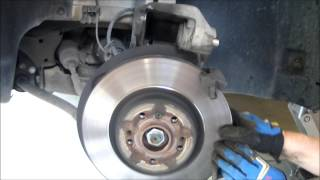 how to mercedes benz brake job