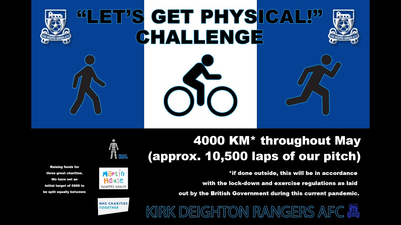 'Let's Get Physical!' Challenge Launched.