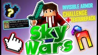 Minecraft INVISIBLE ARMOR CHALLENGE / TEXTUREPACK 🌟 Gomme SKYWARS