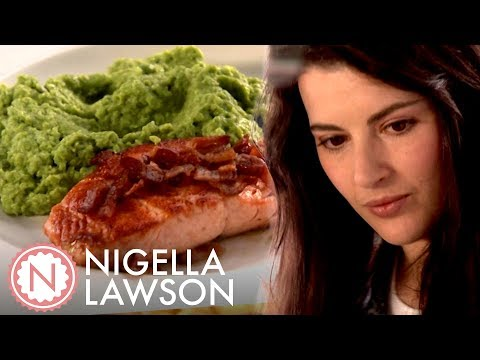Nigella Lawson's Easy Salmon And Posh Mushy Peas | Nigella Bites