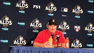 Boston Red Sox manager John Farrell not worried about job security ahead of Game 3 ALDS