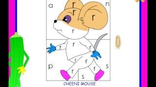 Recognition of letter r  -  kindergarten worksheet