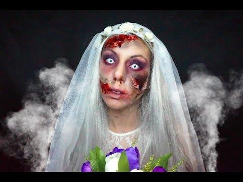 Maquillage Halloween Mariee.Halloween Makeup Mariee Zombie Youtube