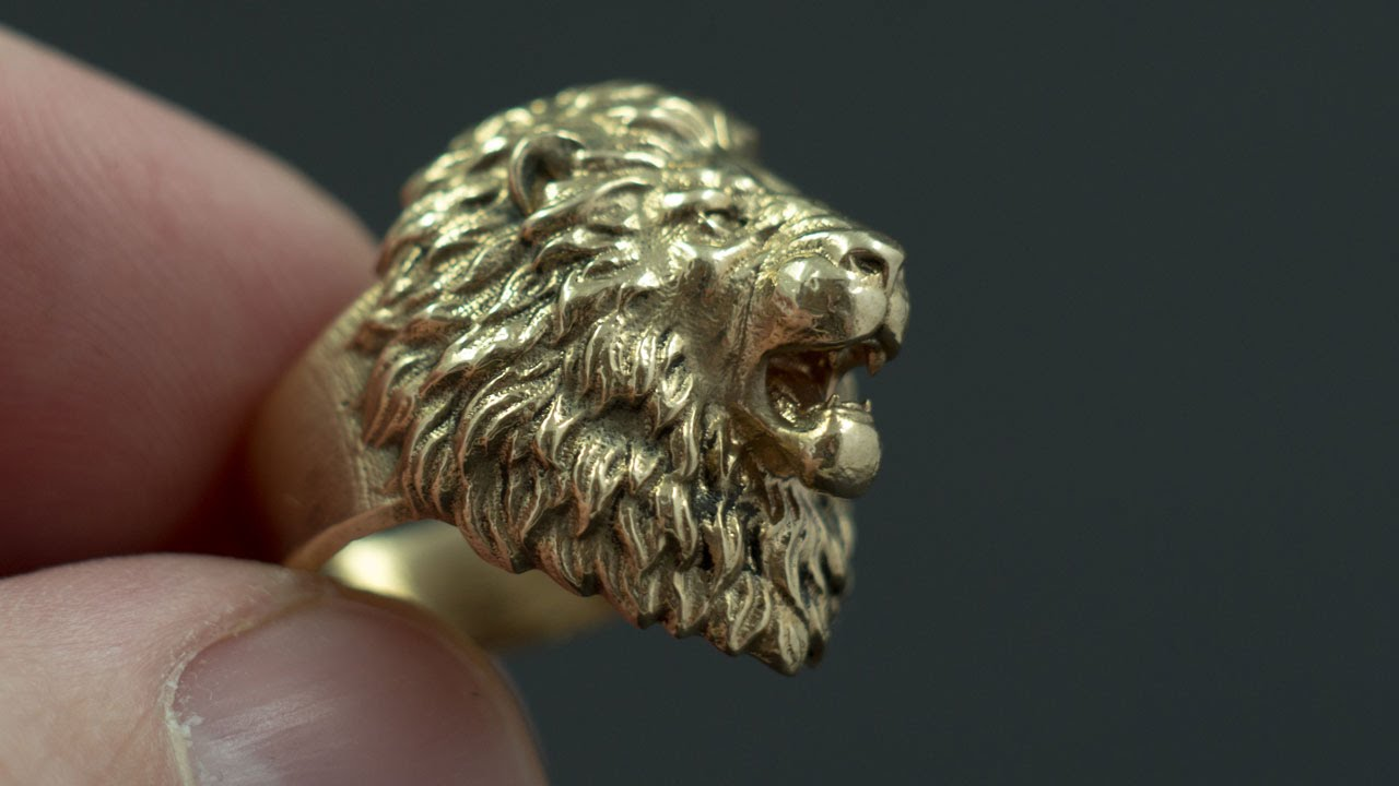 aggressive lion ring jewelry youtube