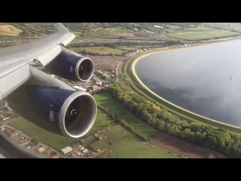 British Airways Boeing 747-400 Takeoff London Heathrow Airport