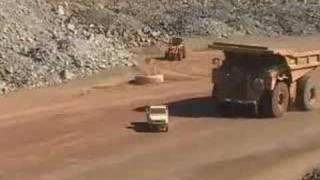 Toyota ute destroyed by dump truck