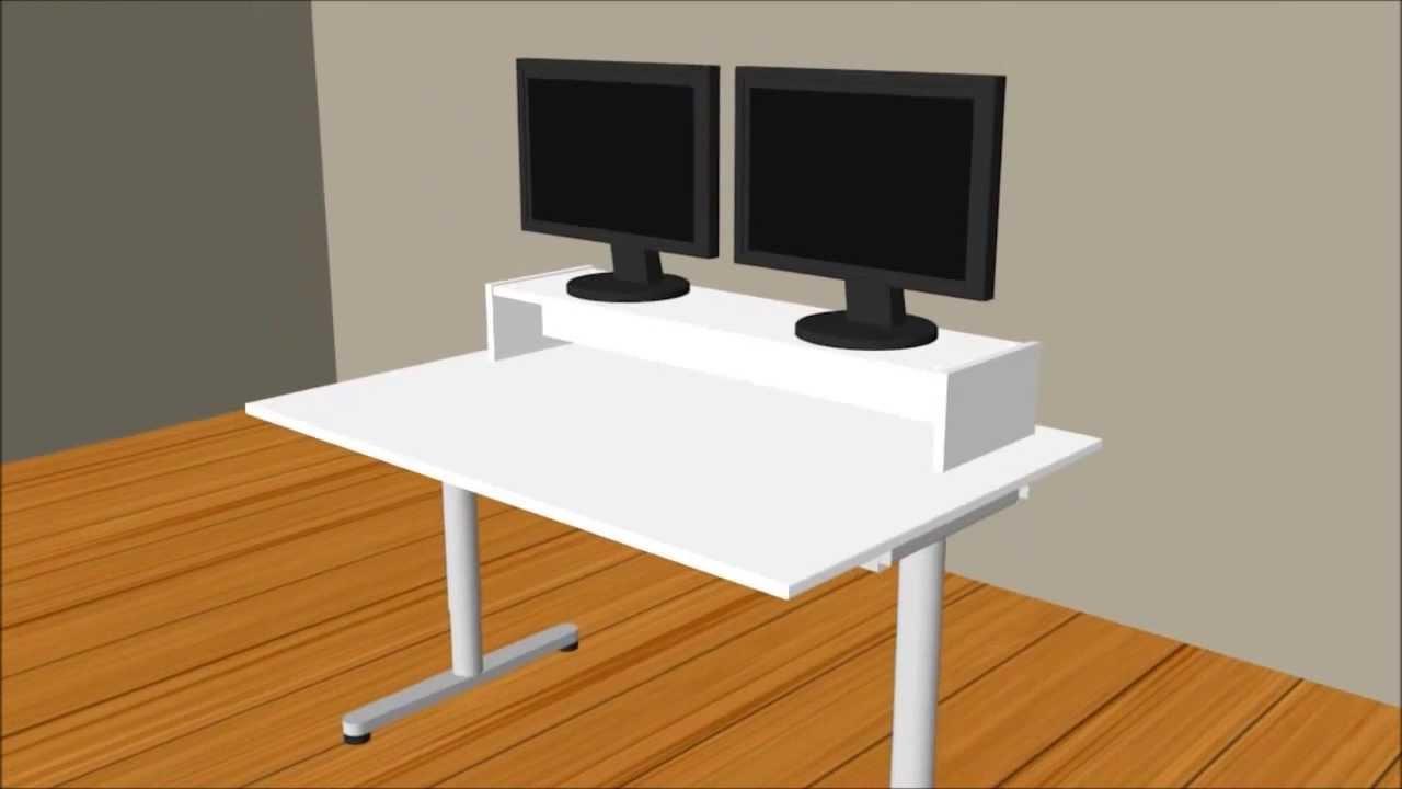 Eckschreibtisch ikea galant  Pimp dein Galant Schreibtisch - Monitorständer Desktopp XXL ...