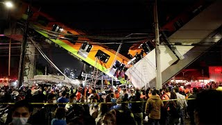 Mexico City metro overpass collapses killing several and injuring dozens more